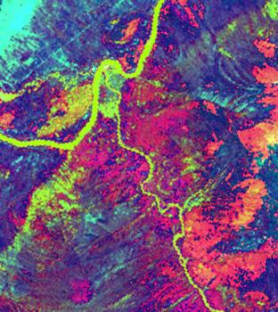 Landsat Photograph of Ust Nechera