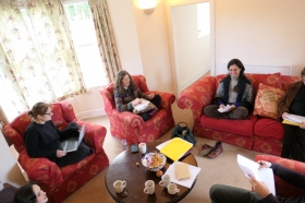 Arctic Domus team members met for Writing Retreat at The Burn
